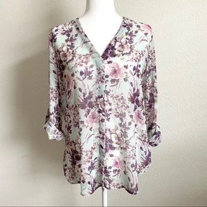 Kut from the Kloth Floral Button Down Shirt M
